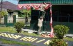 Markas Kodim 1011/Klk Dihias demi Semarakkan HUT ke-74 Kemerdekaan RI