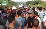 Warga Demo Tuntut PT IMK Buka Akses Jalan Lama Dibuka Lagi