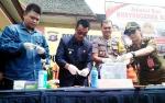 Polres Barito Utara Musnahkan 5,7 Gram Sabu