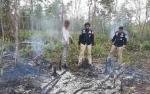 Polsek Dusun Selatan Amankan Terduga Pelaku Pembakar Lahan