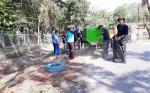 Prajurit Antang Ajak Warga Bersihkan Lingkungan Sambut Idul Adha dan HUT ke - 74 RI