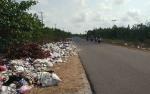 Tumpukan Sampah di Tepi Jalan Raya ini Ganggu Warga
