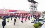Lapas Muara Teweh Gelar Tari Kolosal Indonesia Bekerja Meriahkan HUT Kemerdekaan RI