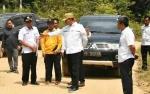 Bupati Barito Utara Pantau Pekerjaan Infrastruktur Jalan Lahei - Luwe