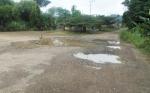Warga Desa Konut Taman Kelapa di Tengah Jalan