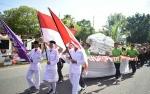 Ribuan Peserta Ikuti Pawai Karnival di Kapuas Meriahkan Hari Pramuka