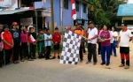 Jalan Sehat Meriahkan Perayaan HUT Kemerdekaan RI di Kecamatan Rungan