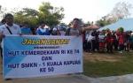 SMKN 1 Kuala Kapuas Gelar Jalan Sehat Meriahkan HUT Kemerdekaan RI