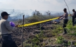 16 Hektare Lahan Terbakar di Desa Sei Pitung Dipasangi Garis Polisi