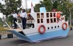 Dinas Perhubungan Sukamara Tampilkan Miniatur Kapal Laut