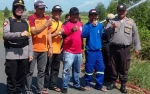Polsek Kapuas Timur dan Unsur Tripika Rutin Patroli Gabungan Imbau Warga Cegah Karhutla