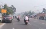 Jarak Pandang Rendah Akibat Kabut Asap di Pagi Hari, Palangka Raya Terparah