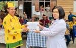 Wakil Bupati Gunung Mas Salurkan Bantuan untuk Tiwah Massal di Desa Jalemu Raya