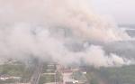 Komplek Perkantoran Pemkab Pulang Pisau Dikepung Api Kebakaran Hutan dan Lahan