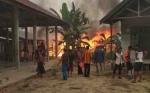 Kebakaran Hanguskan Dua Warung di Kompleks Pasar Desa Baru Barito Selatan