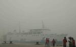 Kabut Asap di Sungai Mentaya Mengganggu Aktivitas Kapal