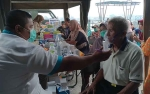 Korem 102 Panju Panjung Gelar Pengobatan Massal Gratis di Pelabuhan Rambang