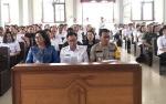 Bupati dan Kapolres Katingan serta Umat Kristiani Doa Bersama Minta Hujan