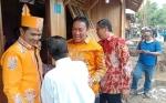 Bupati Pulang Pisau Hadiri Pemasangan Plat Peserta Bantuan Stimulan Perumahan Swadaya