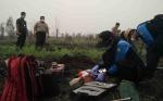 Polres Kotim Ambil Sampel Tanah di Lokasi Kebakaran Lahan Kawasan Perkebunan Sawit