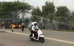Polres Kapuas Turunkan Mobil Water Cannon Bantu Pemadaman Kebakaran Lahan
