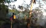 Tim Masyarakat Peduli Api Rimba Sari Berjibaku Padamkan Kebakaran Lahan