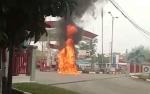 Jeriken Meledak di Areal SPBU Jalan Imam Bonjol Palangka Raya