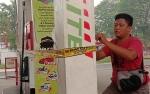 Satu Tempat Pengisian di SPBU Jalan Imam Bonjol Kota Palangka Raya Dipasang Garis Polisi