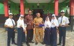 Kepala SMPN 1 Kuala Pembuang Sambut Siswa Berprestasi Tingkat Nasional