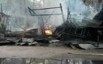 Kios Terbakar di Taman Kota Sampit Disewa 6 Warga dan Dalam Keadaan Kosong