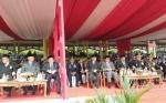 Wakil Gubernur dan Sekda Kalteng Hadiri Upacara HUT ke-74 TNI