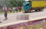 Pengendara Tewas Tertabrak Truk Tangki di Km 80 Desa Selunuk Seruyan