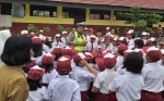 Ditlantas Polda Kalteng Bekali Murid SD Soal Tertib Berlalu Lintas