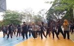 Bupati Kobar Ikut Flashmob Bersama Siswa SMAN 1 Pangkalan Bun