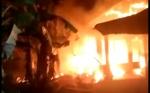Dua rumah di Kelurahan Ampah Kota Hangus Terbakar