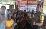 Anggota Polsek Kapuas Hilir Coffe Morning Bersama Wartawan