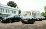 Belasan Mercy Parkir untuk Tamu Negara di Istana