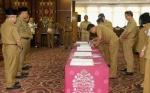 Sekda Kalteng Pimpin Serah Terima Jabatan Sejumlah Pejabat Eselon III dan IV