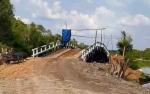 Pemerintah Desa Baampah Bangun Jembatan Menuju Dermaga Mentaya