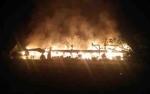 Bangunan SMP Negeri 4 Pangkalan Banteng Hangus Terbakar di Tengah Malam