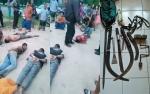 Video Amatir 5 Tersangka Pencuri Babak Belur Dihakimi Warga Desa Amin Jaya