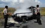 Sebuah Pikap Hangus Terbakar di Kawasan Kalap