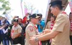 Bupati Barito Utara Sambut Kunjungan Gubernur di Kemah Kontingen