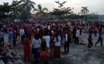 Ratusan Umat Kristiani Ramaikan Parade Natal di Gunung Mas