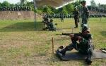 Anggota Kodim 1011 Kuala Kapuas Tingkatkan Kemampuan Lewat Latihan Menembak Senjata Ringan