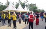 Senam Bersama Semarakan Penutupan Hari Kesehatan Nasional ke 56 di Kobar