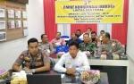 Wabup Sukamara dan Kapolres Ikuti Video Conference Bersama Menko Polhukam
