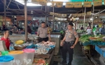 Kapolsek Pahandut Bangun Dialog dengan Pedagang Pasar Besar