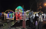 Taman Literasi Sukamara Dihiasi Penuh Lampu Warna