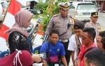Satlantas Polres Sukamara Cek Kesehatan Sopir Taksi